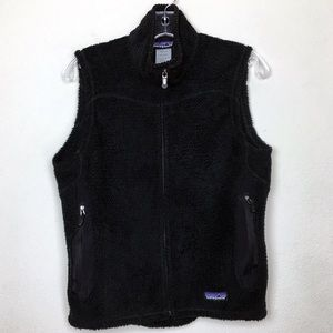 Patagonia Black Zip Up Vest Medium